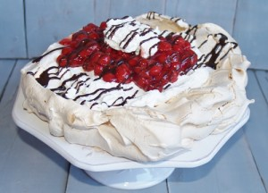 Cherry Pavlova - Kellis Kitchen