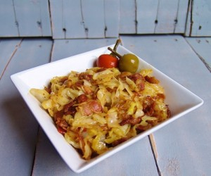 Fried Cabbage with Bacon!