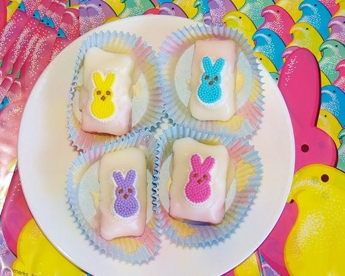 Peeps Petit Fours – Kellis Kitchen