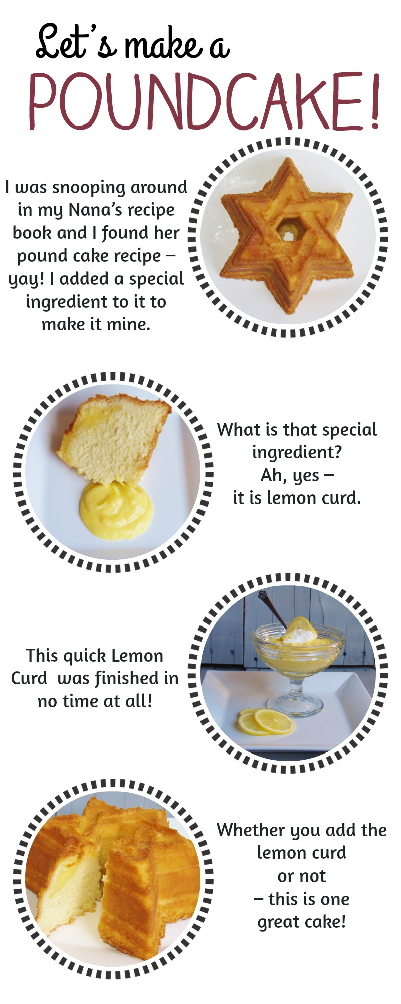 Nana's Pound Cake with Lemon Curd- Recipe for southern pound cake with vanilla bean and lemon curd
