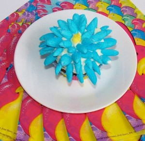 Flower Cupcakes with Peeps