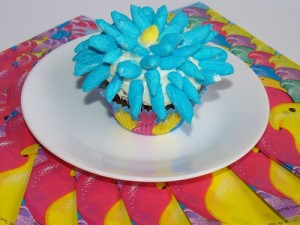 Flower Cupcakes with Peeps – Kellis Kitchen