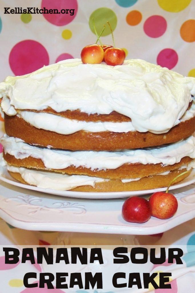 BANANA SOUR CREAM CAKE
