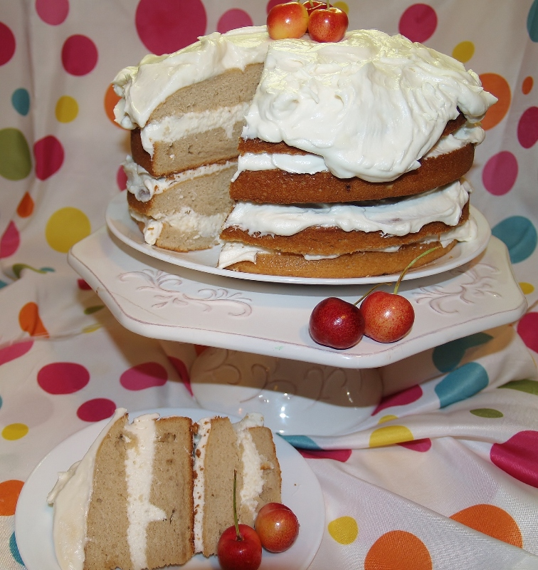 Banana Sour Cream Cake - Kellis Kitchen