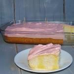 Strawberry Lemon Poke Cake