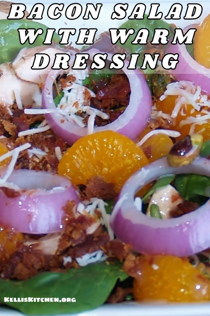 BACON SALAD WITH WARM DRESSING