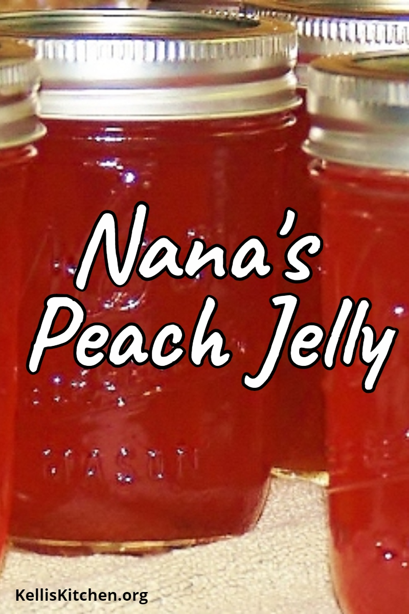 Nana's Peach Jelly via @KitchenKelli