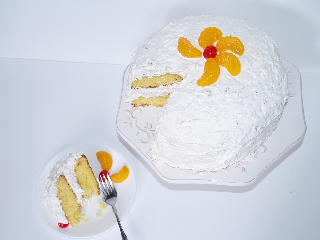 Aunt Betty's Gussied Up Mandarin Cake – Kellis Kitchen