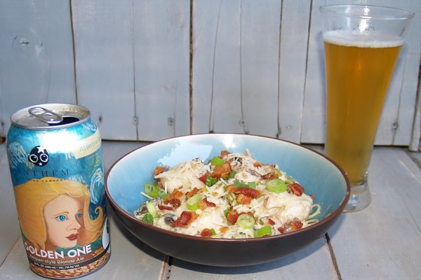Bacon Mushroom & Beer Alfredo #baconmonth – Kellis Kitchen