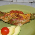 Bacon Wrapped Hatch Green Chiles #Baconmonth