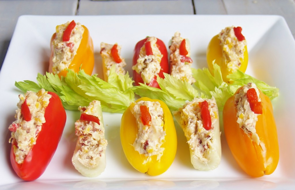 Bacon Ranch & Pimento Cheese Stuffed Veggies #putsomepiginit