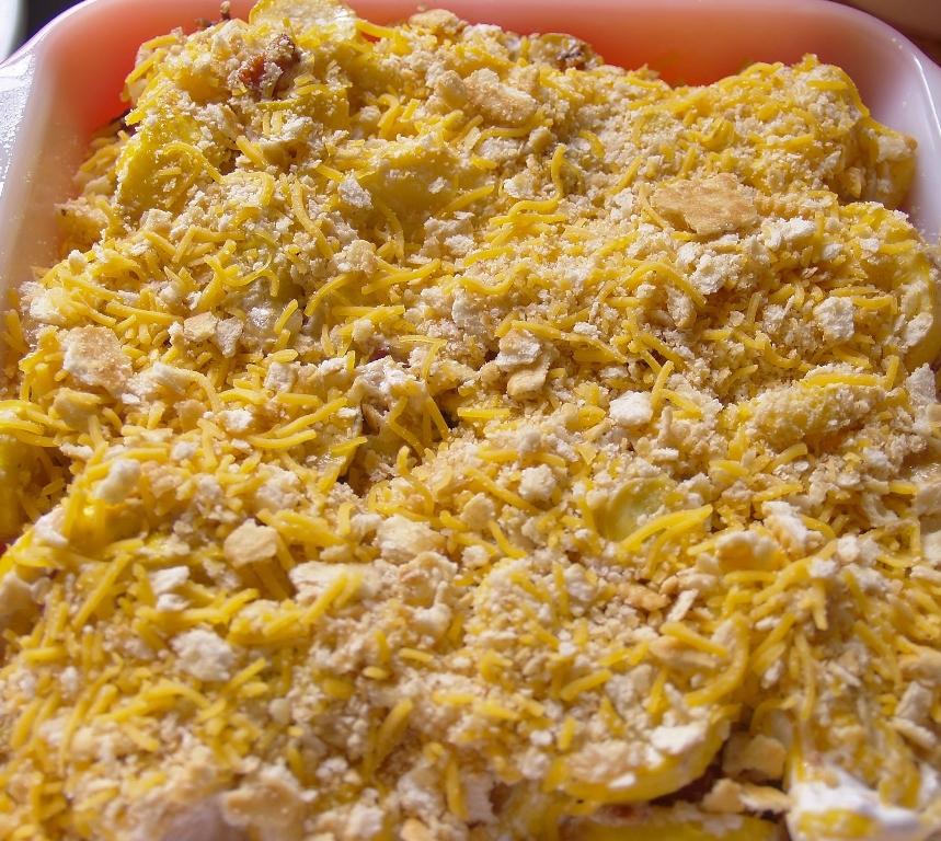 Bacon Ranch Squash Casserole #Putsomepiginit – Kellis Kitchen