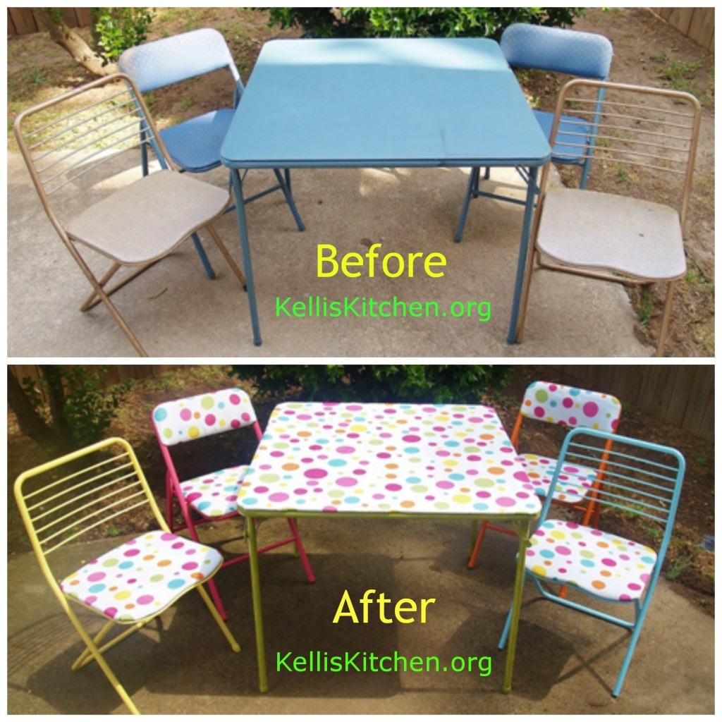 Card Table Redo - set before and after