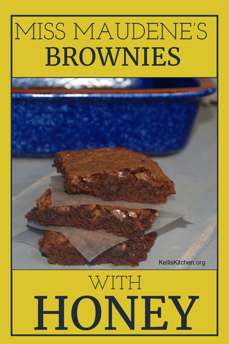 Miss Maudene's Brownies with Honey Icing