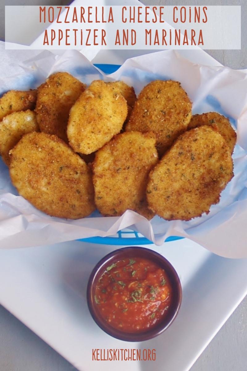 Mozzarella Cheese Coins Appetizer and Marinara
