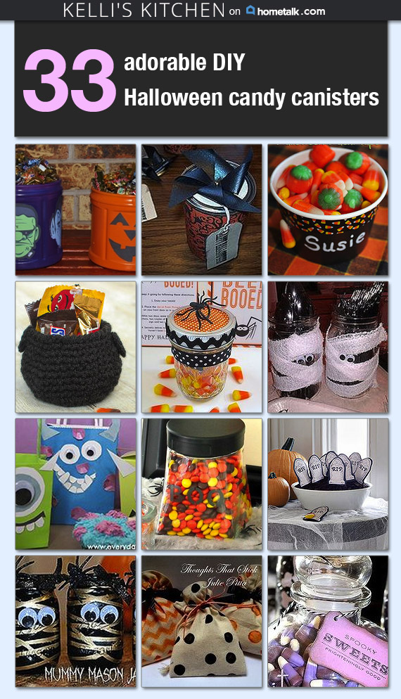 Halloween Candy Canisters - Kellis Kitchen