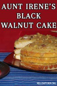 AUNT IRENE'S BLACK WALNUT CAKE