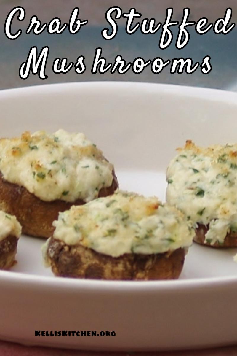 Crab Stuffed Mushrooms via @KitchenKelli