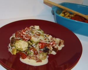 Brussel Sprouts, Turnips, Zucchini &Tomatoes