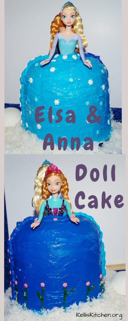 Elsa and Anna Doll Cake