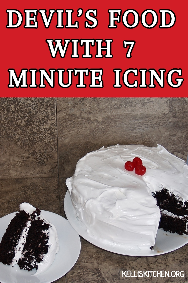 CLASSIC DEVIL'S FOOD CAKE WITH 7 MINUTE ICING via @KitchenKelli
