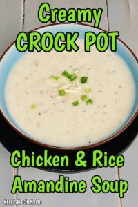 Creamy Crockpot Chicken & Rice Amandine Soup