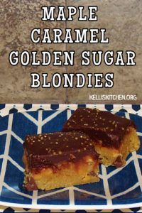 MAPLE CARAMEL GOLDEN SUGAR BLONDIES
