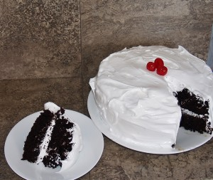 CLASSIC DEVIL'S FOOD CAKE WITH 7 MINUTE ICING