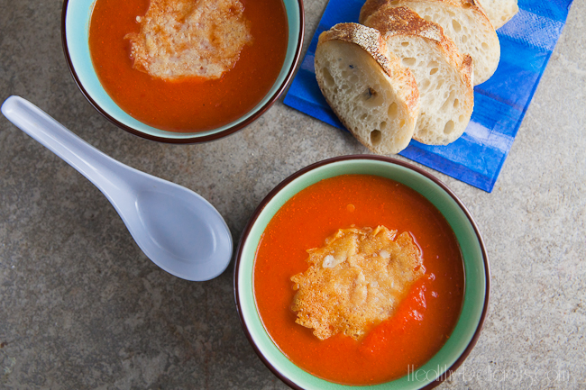 Roasted-Red-Pepper-Bisque-with-Asiago-Crisps