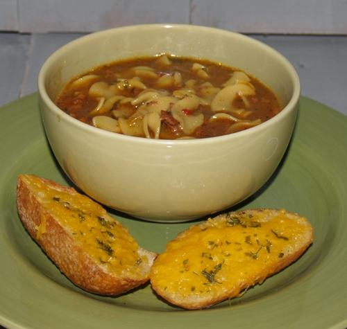 Hamburger Pasta Soup - Kellis Kitchen