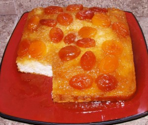7 UP Apricot Upside-Down Cake