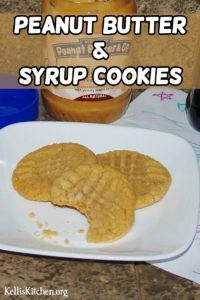 Peanut Butter & Syrup Cookies
