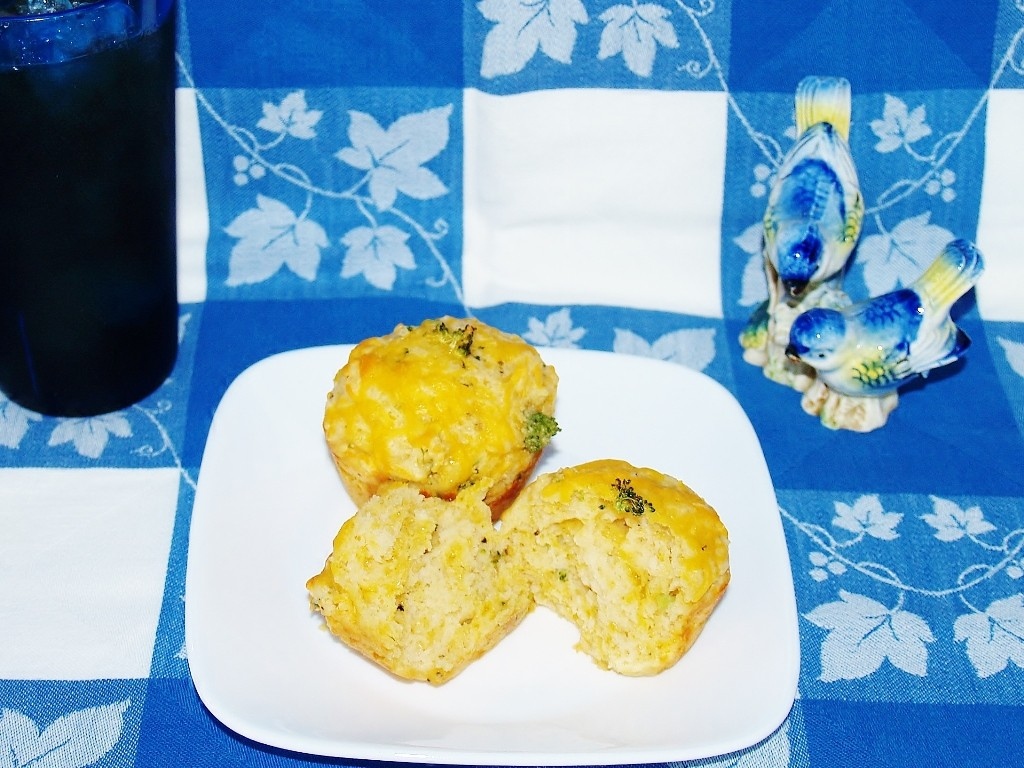 Savory Broccoli and Cheese Muffins