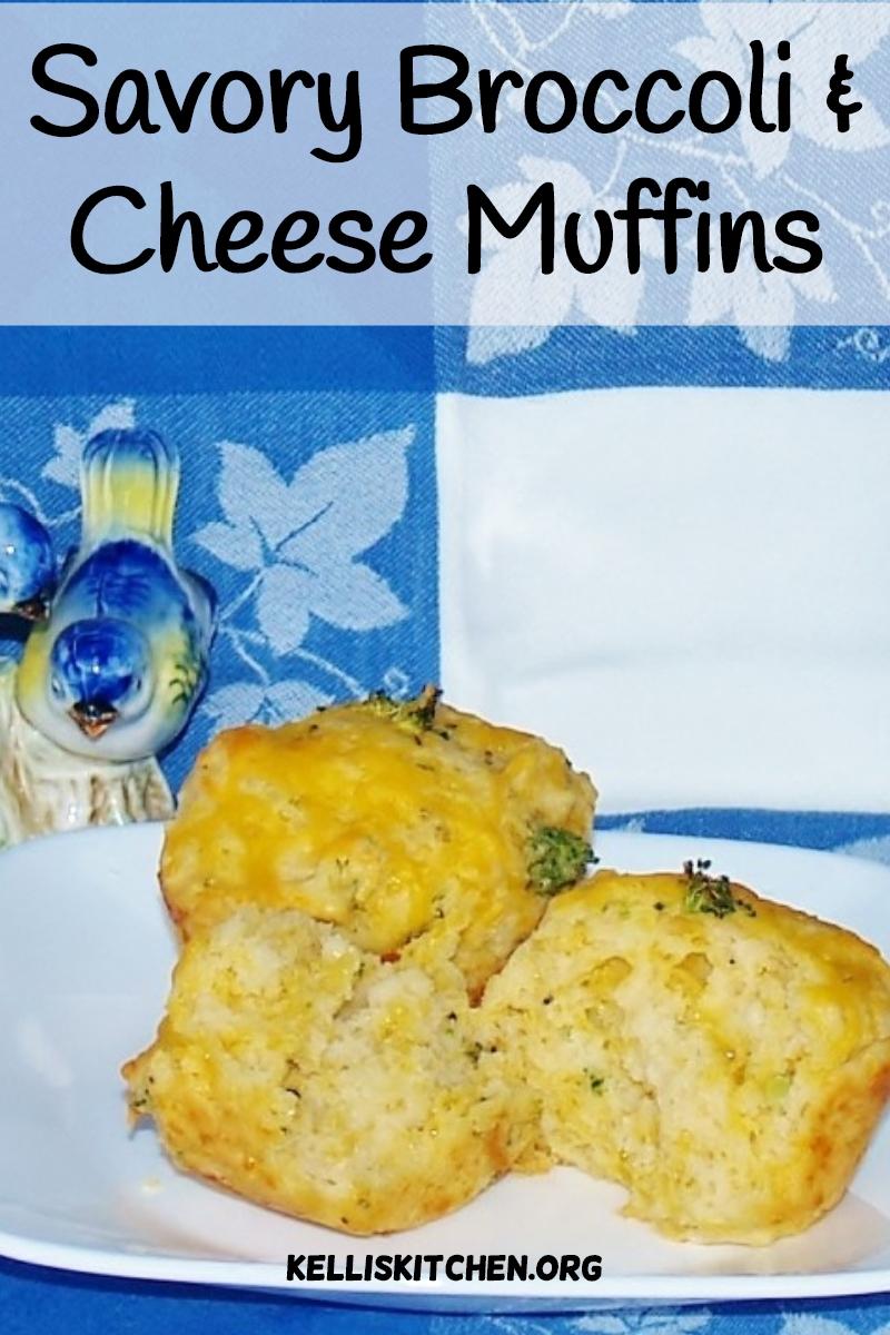 Savory Broccoli and Cheese Muffins via @KitchenKelli