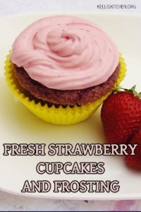 FRESH STRAWBERRY CUPCAKES AND FROSTING