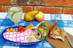 Duck with Pear Wraps and Limeade with Chia Seeds #bloggerclue – Kellis Kitchen