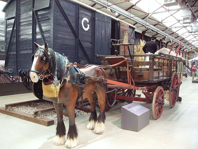 Museum installation of Driving Dray