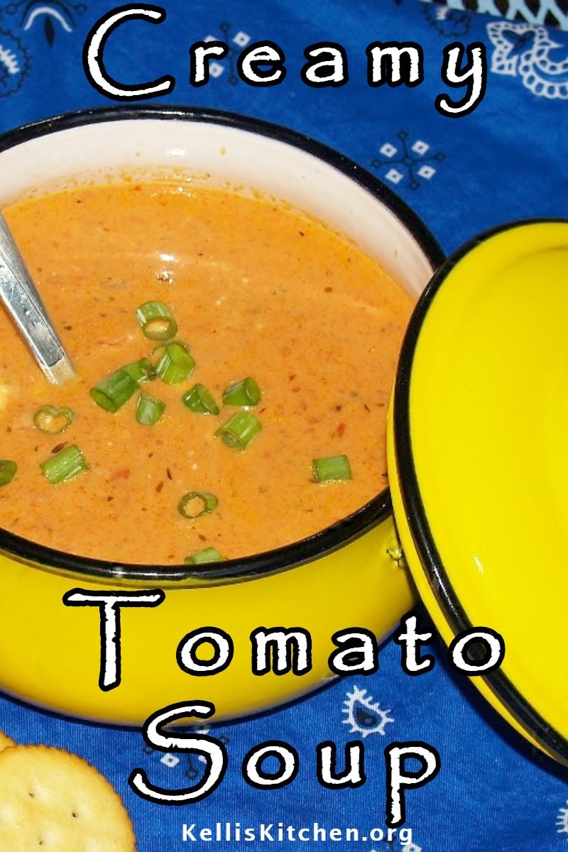 CREAMY TOMATO SOUP via @KitchenKelli