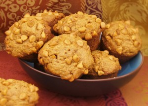 Pumpkin Butterscotch Muffins for #MuffinMonday