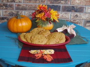 Monster Pumpkin Butterscotch Cookies for #cookieofthemonth
