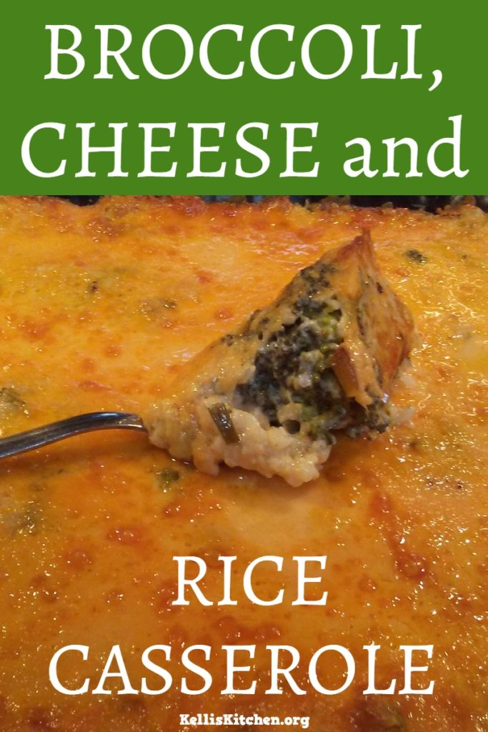 BROCCOLI CHEESE AND RICE CASSEROLE