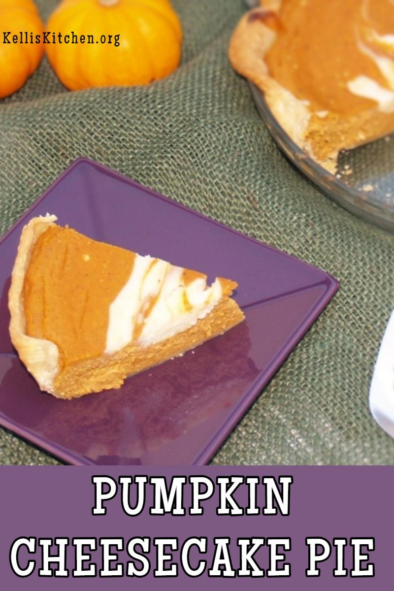 PUMPKIN CHEESECAKE PIE via @KitchenKelli