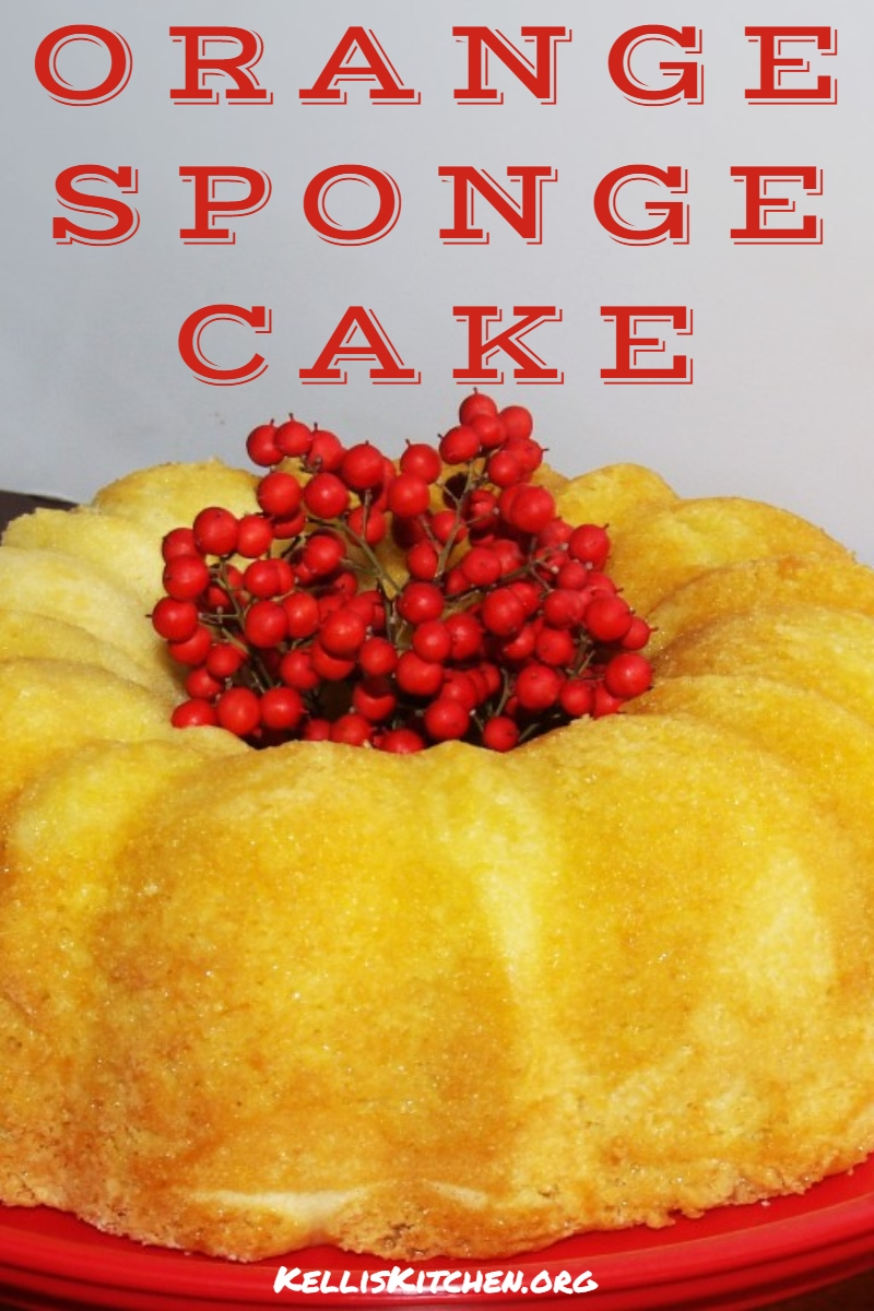 ORANGE SPONGE CAKE via @KitchenKelli
