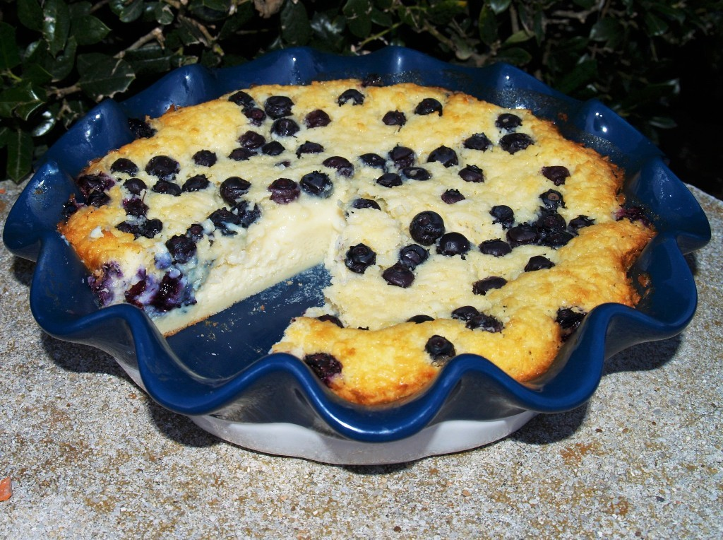 Lemon Blueberry Impossible Pie
