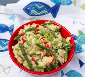 Asparagus and Couscous with Lemon Vinaigrette