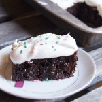 Easy Moist Chocolate Poke Cake