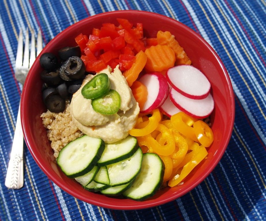 Hummus Quinoa Bowls from Kelli's Kitchen