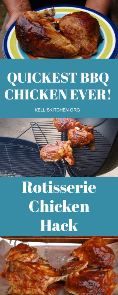 Quickest BBQ Chicken Ever! Rotisserie Chicken Hack