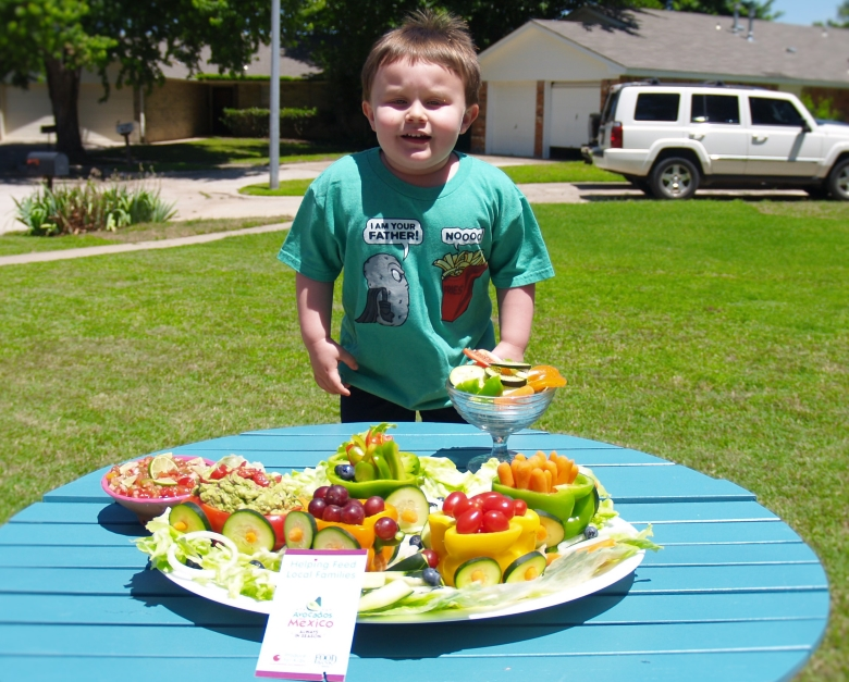 Fruit and Vegetable Train with Halfway Homemade Salsa