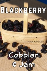 Blackberry Cobbler & Jam